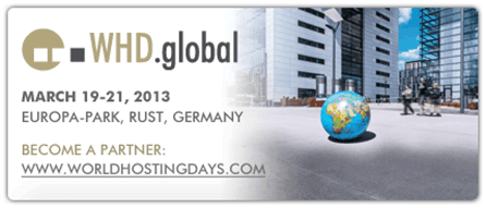 What: WHD.global | Where: Europa-Park, Rust, Germany | When: March 19-21, 2013